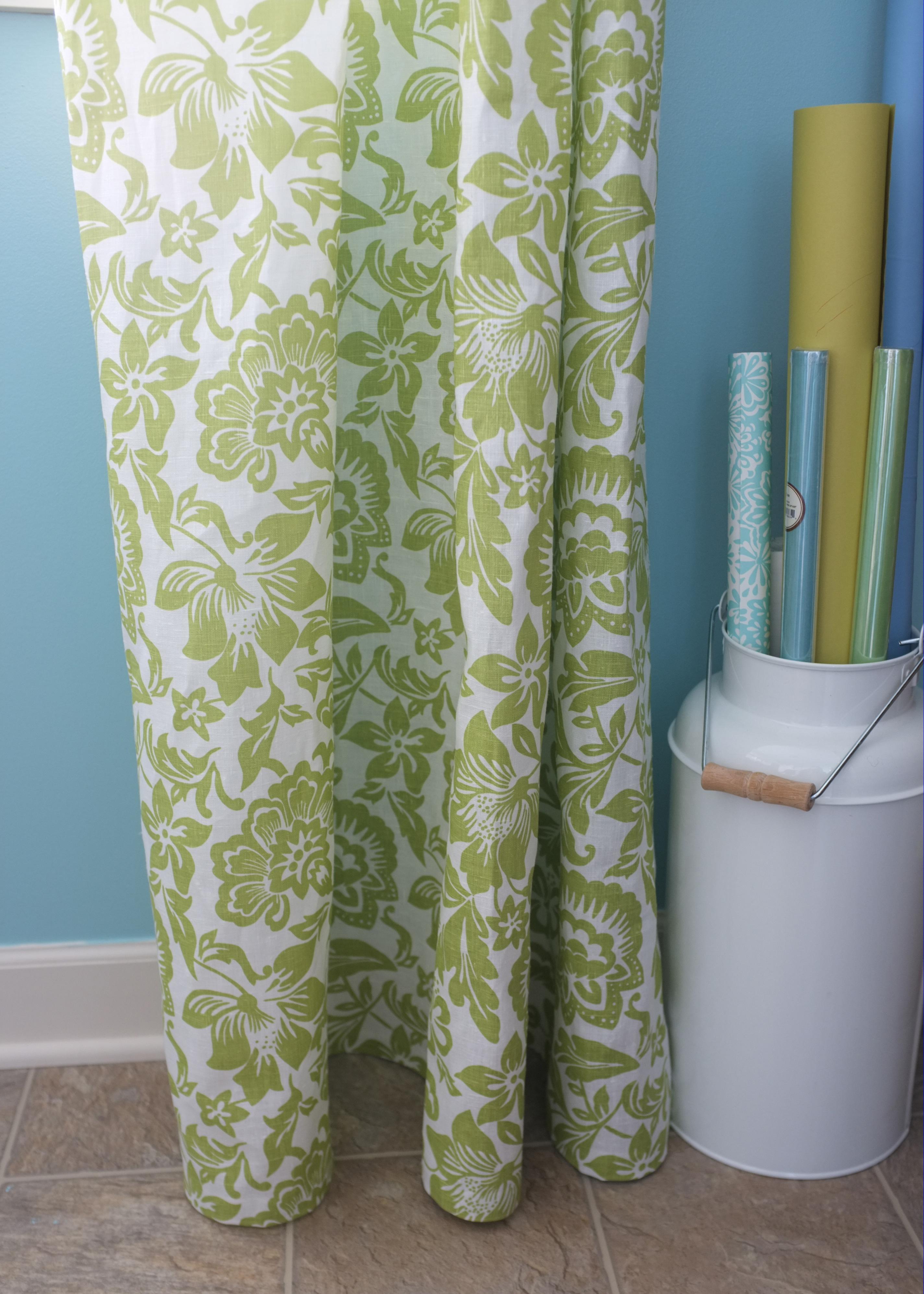 Laundry Room No-Sew Drapes