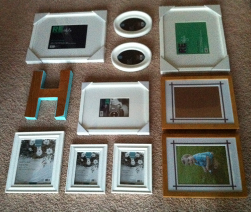 I Laid Out The Actual Frames On The Floor And Fell Even More In Love, But I  Just Did Not Have Time Right Away To Get Them Hung. I Procrastinated  Because I ...
