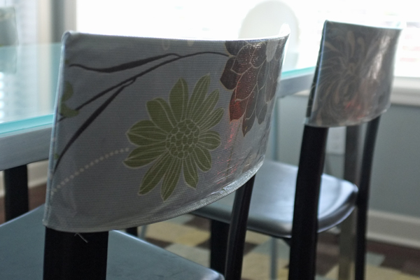 DIY Laminated Chair Back Covers