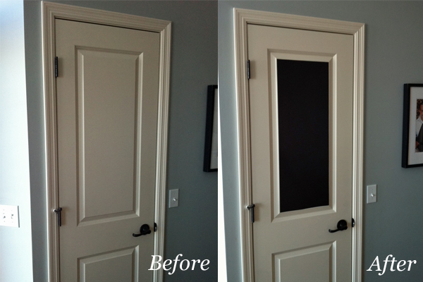 & Easy Chalkboard Door