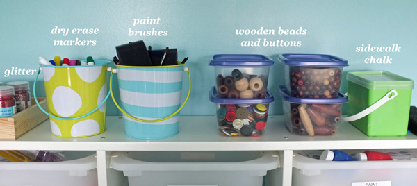 Kids art and craft storage
