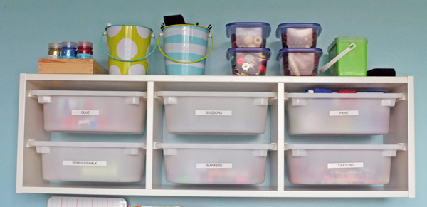 Art and Craft Storage for Kids