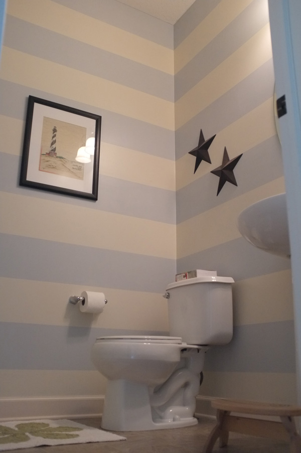 Striped Half Bathroom