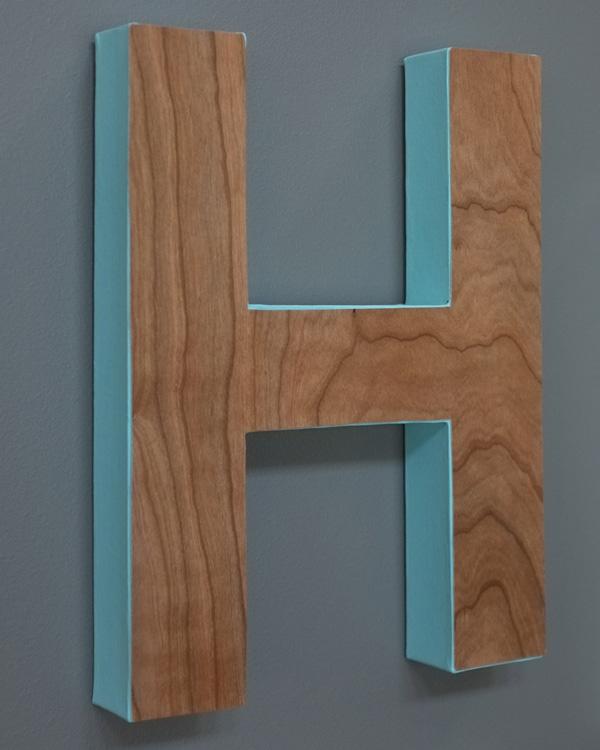 DIY Wood Veneer Monogram