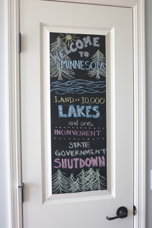 More recently ... & Easy Chalkboard Door