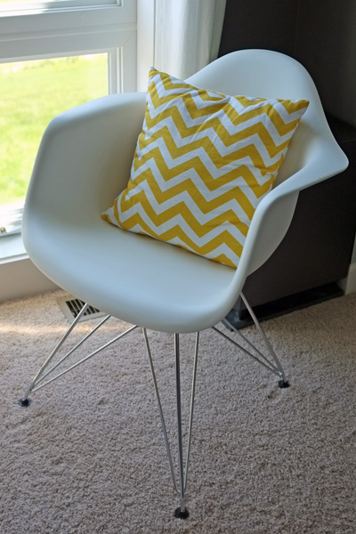 Bold Pillow in Eames Chair