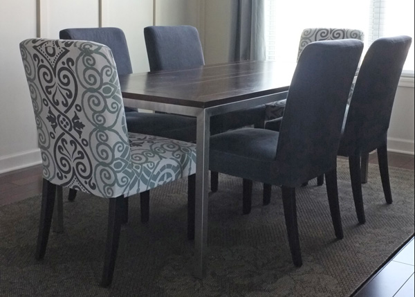 Dyed Dining Chair Slipcover I Wanted Dark Gray