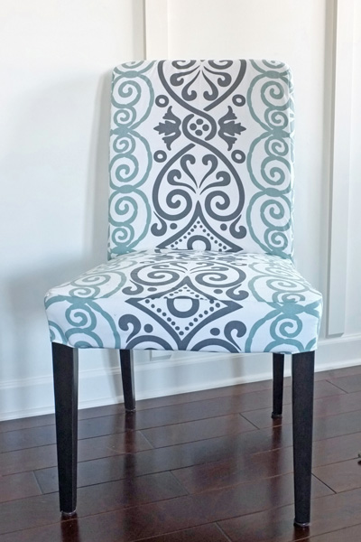 DIY Dining Chair Slipcovers from a Tablecloth | School of ...