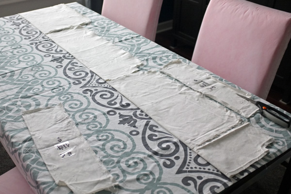 Tablecloth as slip cover