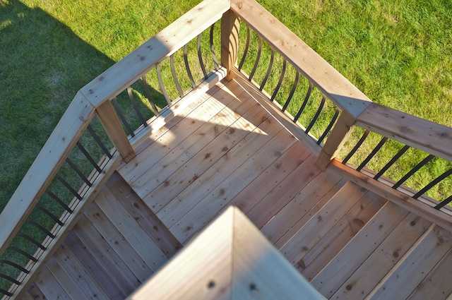 Outdoor stair landing design gallery - Home designer stairs with landing ...