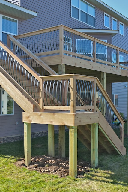 Turned Deck Stairs