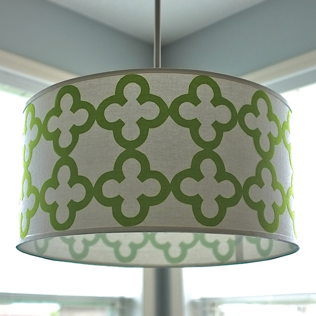 Quatrefoil Drum Shade Pendant Light  School of Decorating by
