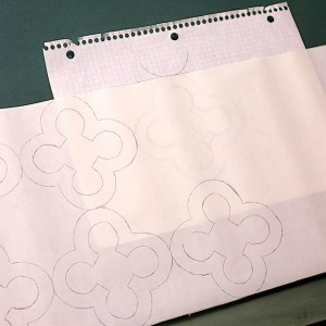 Trace design onto fusible web