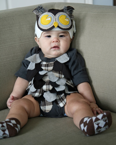 Baby Owl Costume  sc 1 st  School of Decorating & DIY Baby Owl Costume