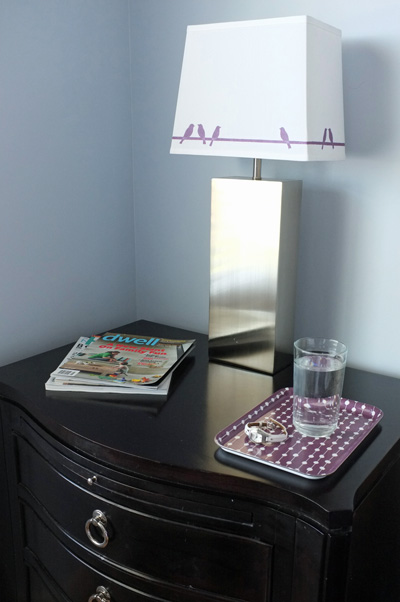 decorative tray bedside for water glass