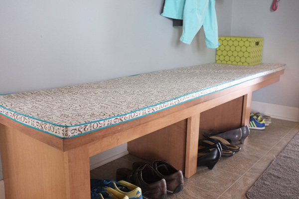Diy Bench Cushion With Contrast Piping
