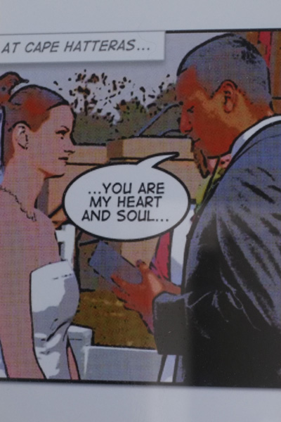 Wedding Photos as Comic Strip