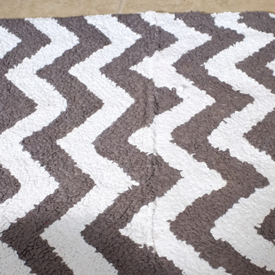 brown and grey bathroom rug chevron bath mat runner