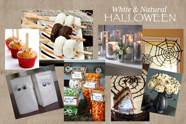 White Halloween Mood Board