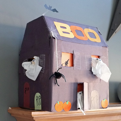 Haunted House from Diaper Box