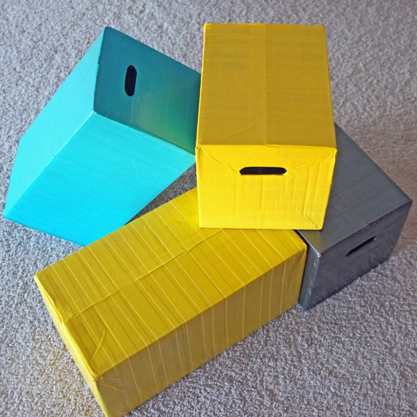 diaper box building blocks