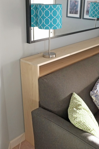 console table side view