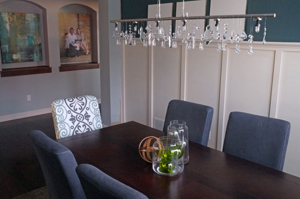 DIY Crystal Dining Room Chandelier