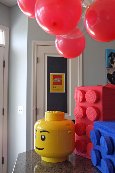 Lego Party Balloon Ceiling Decorations