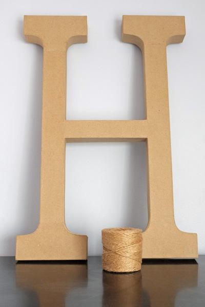 Brown Paper Mache Letter