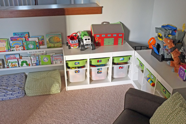 Toy storage with photo labels - Toy shelves ikea ...