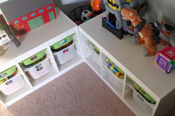 Corner Toy Storage