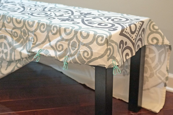 DIY Bench Slipcover