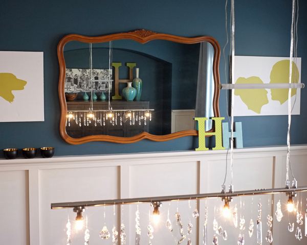 Vintage Mirror in Dining Room