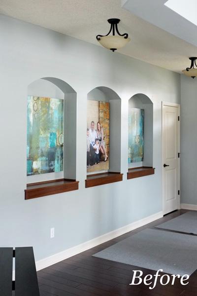 Foyer lights before