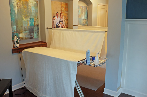 Ironing 6 yards of fabric