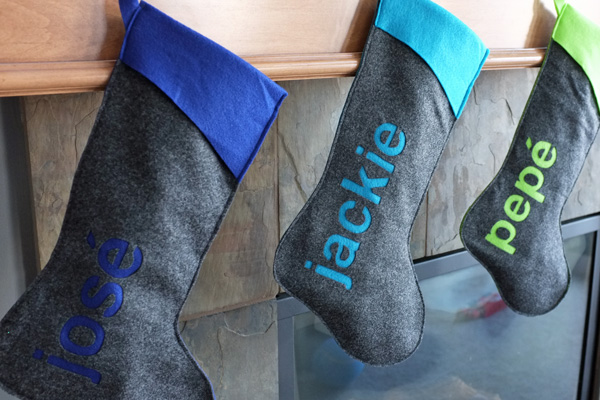 DIY personalized stockings