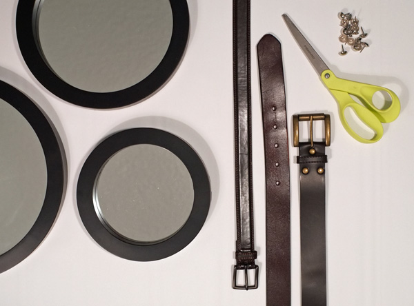 Round Mirror With Leather Strap Tutorial