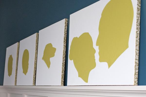 Canvas Art with Decorative paper edges