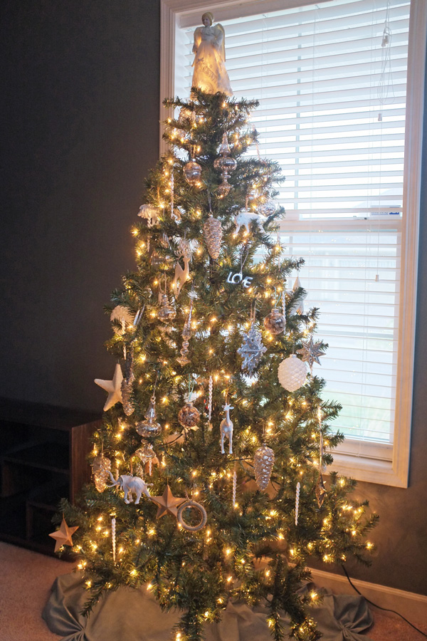 Mercury Glass and White Christmas Tree