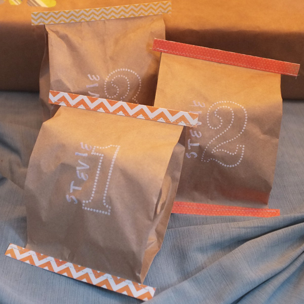 Feed Bag Style Gift Wrap