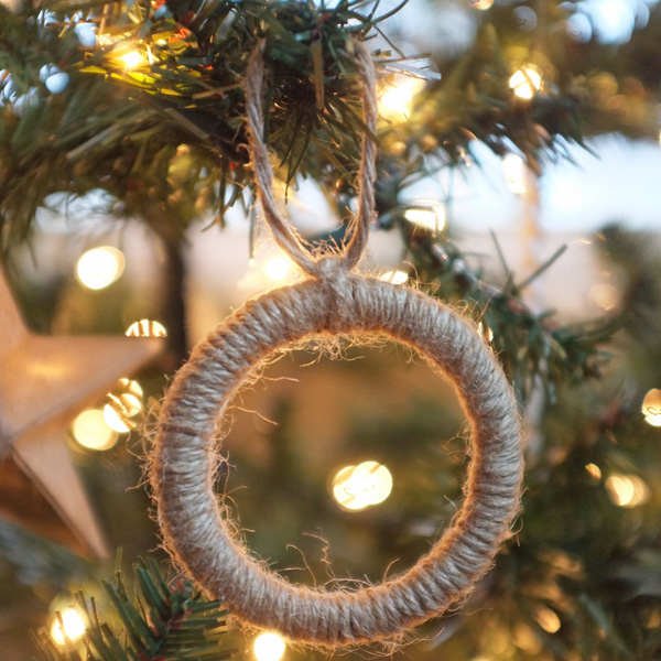 DIY Jute Wrapped Ornaments