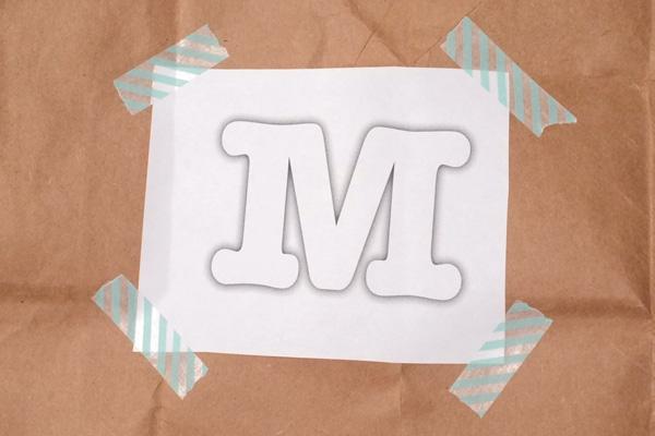 Monogram Brown Paper Gift Wrap