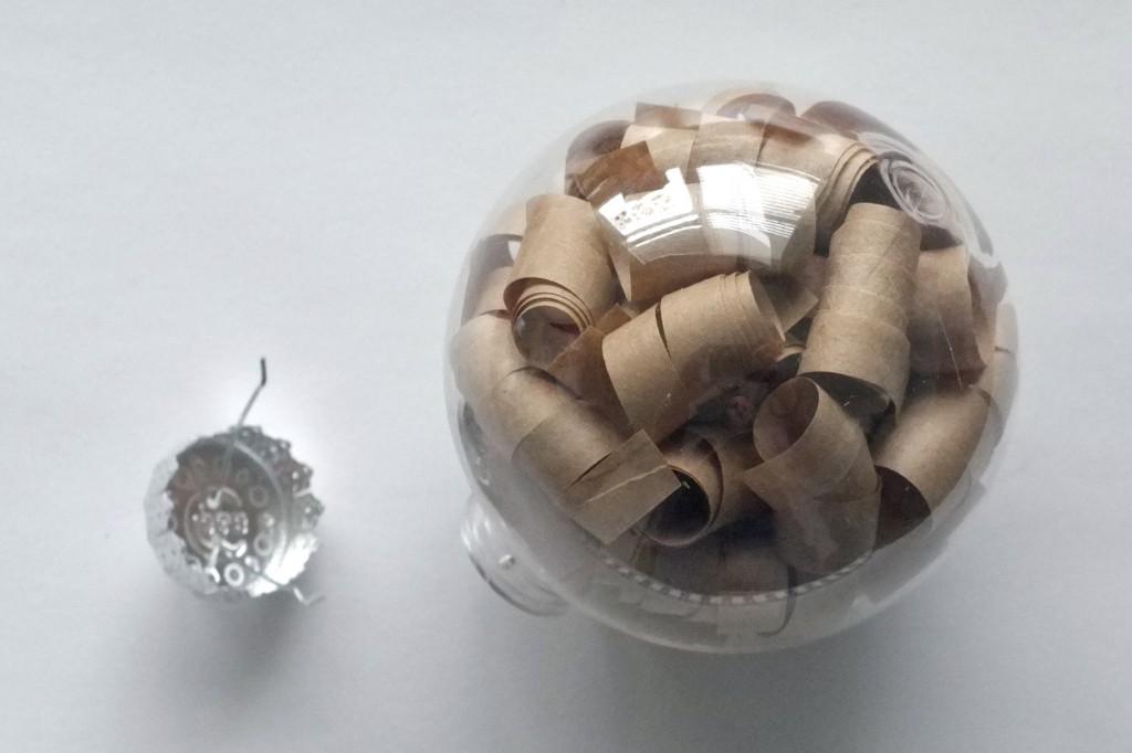 Brown Paper Curl Ornament