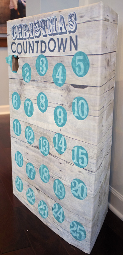 DIY Advent Calendar Punch Game