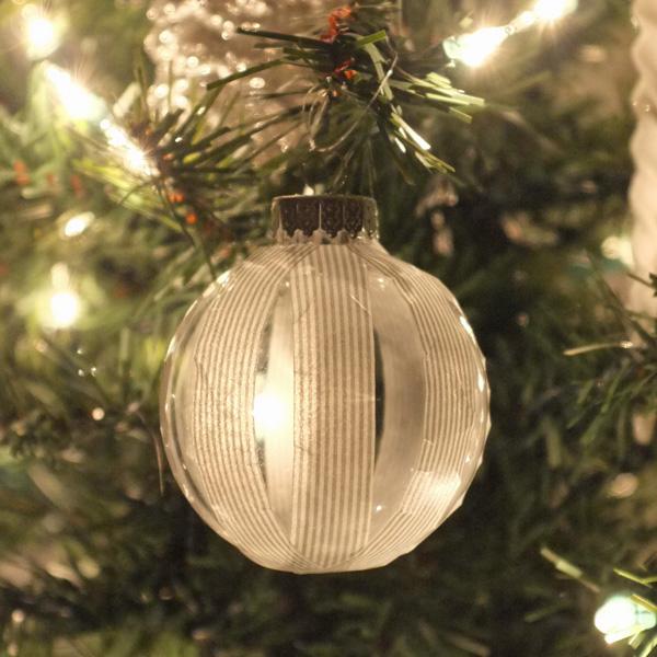 DIY Washi Tape Ornaments