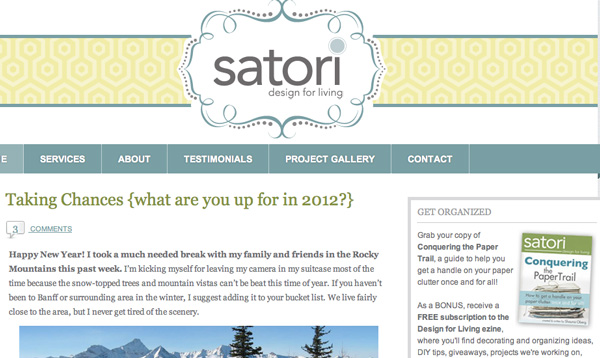 Satori Design For Living blog
