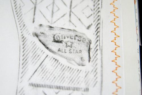 Baby Shoe Rubbing detail