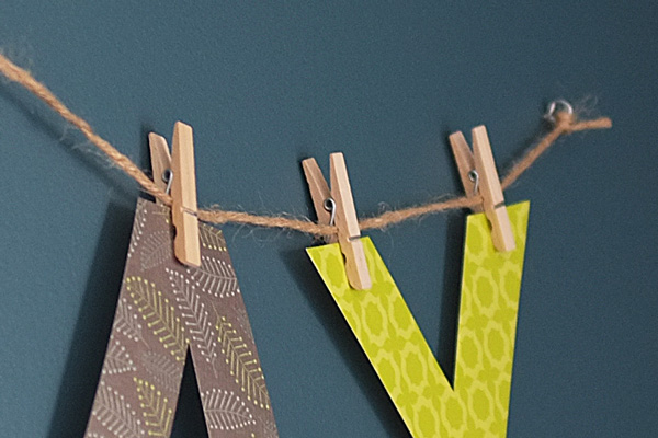 name letter bunting