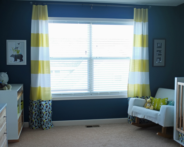 Striped shower curtain curtains