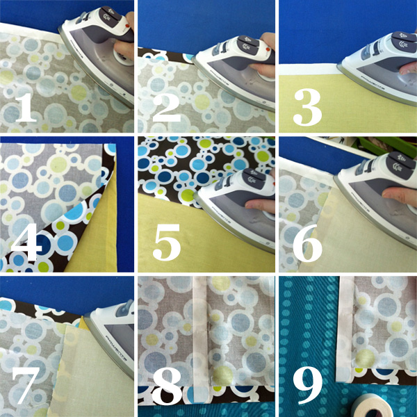 No Sew Shower Curtain Curtains Tutorial
